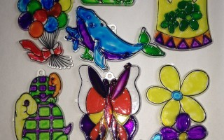 "Easy Stained ""Glass"" Craft For Kids!!"