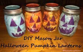 DIY Mason Jar Halloween Pumpkin Lanterns – #KidsCraft #TealPumpkinProject
