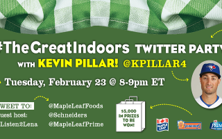 Winter Weather Got You Down? Come Enjoy #TheGreatIndoors Twitter Party With #BlueJays Kevin Pillar!