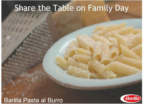 #ShareTheTable This #FamilyDay With Barilla Pasta and Chef David Rocco