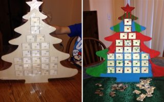 Make Your Own Christmas Tree Advent Calendar – Easy Craft For Kids #DIY