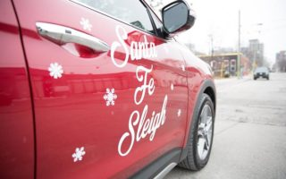 The #SantaFeSleigh Brings #HyundaiHoliday Cheer To Big Brothers Big Sisters