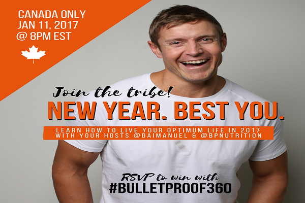 Join Us January 11th For The #Bulletproof360 Twitter Party!! RSVP To #Win! (CAN Only)