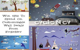 Create A New Look! #Win A $150 GC to @Evgie Nev Wall Decals! #Giveaway – Open WW 2/10