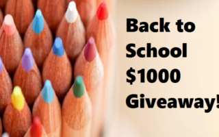 Back to School $1000 Cash #Giveaway – Open Worldwide – #BloggersFete