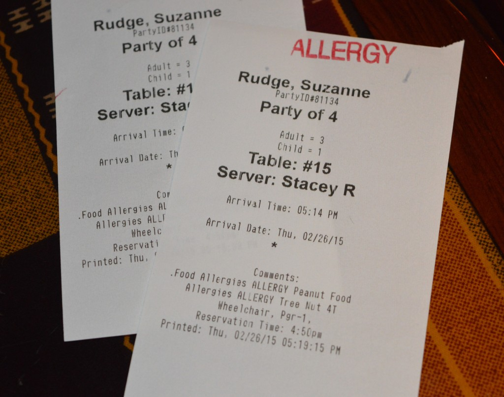 traveling with food allergies