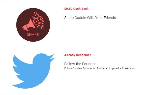 caddle cashback app