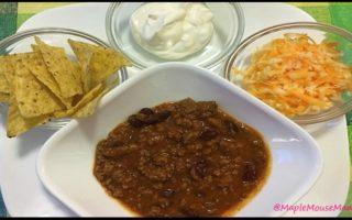 Crock Pot / Slow Cooker Cheesy Chili #Recipe