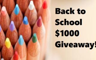 Back to School $1000 Cash #Giveaway – Open Worldwide – #BloggersFete