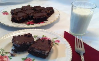 Kathy's Chocolate Coconut Squares #Recipe