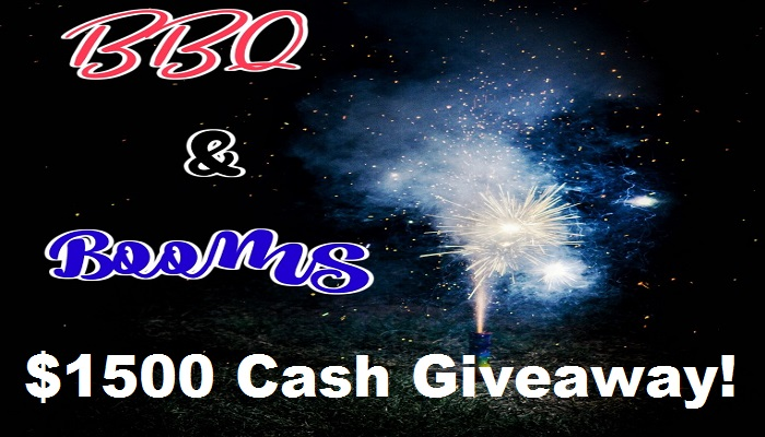 It's The BBQ & Booms $1500 Cash #Giveaway! Open Worldwide!!