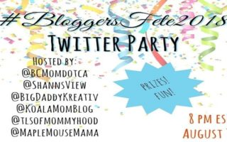 #BloggersFete 2018 Twitter Party – Save The Date #Giveaway