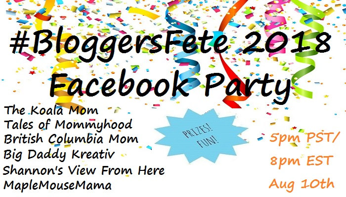 It's The 2018 #BloggersFete Facebook Party – Aug 10th!