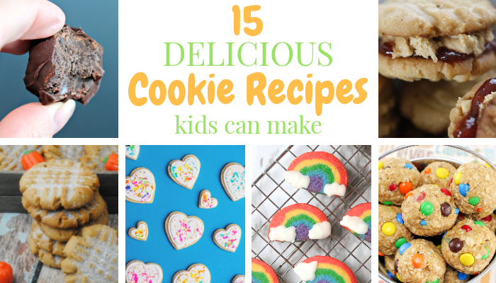15 Cookie Recipes Kids Can Make! #Recipe