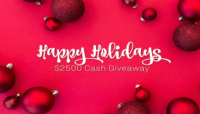 It's The Happy Holidays $2500 Cash #Giveaway – Open Worldwide!