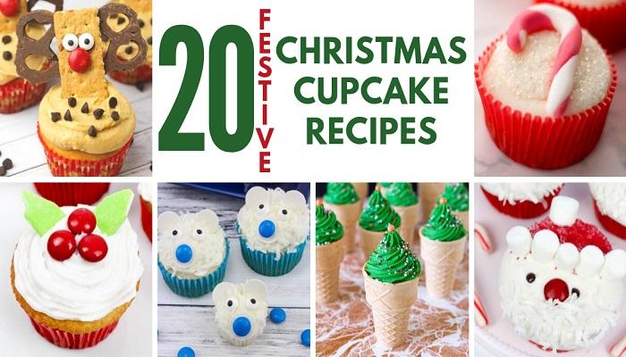 20 Festive Christmas Cupcakes #Recipe