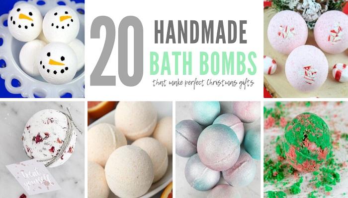 20 Handmade Bath Bombs #DIY