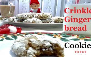 Crinkle-Gingerbread-Cookies