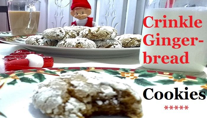 Crinkle Gingerbread Cookies #Recipe